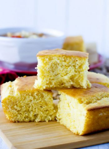 This Sour Cream Cornbread recipe is so moist, delicious, and not overly sweet. It's super easy to make, and the entire family will LOVE it!