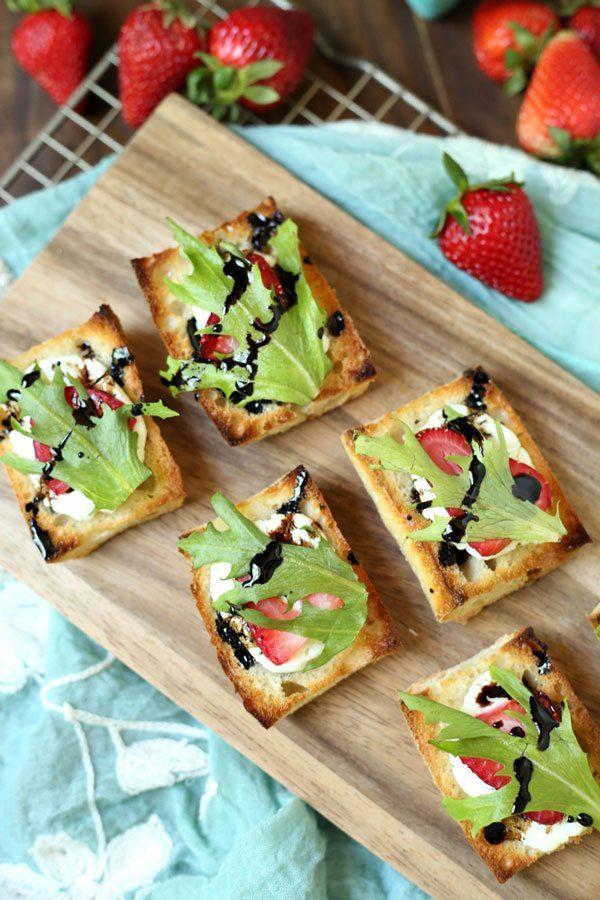 Strawberry Goat Cheese Bruschetta