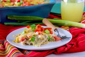 New Mexico Style Green Chile Chicken Enchiladas recipe
