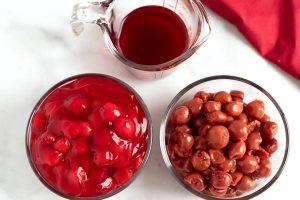 Reserve the cherry juice to make a glaze.