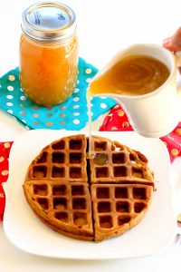 Buttermilk Syrup with Gingerbread Waffles