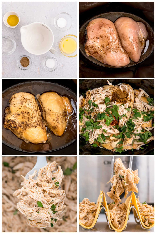 How to make Crockpot Shredded Chicken Tacos