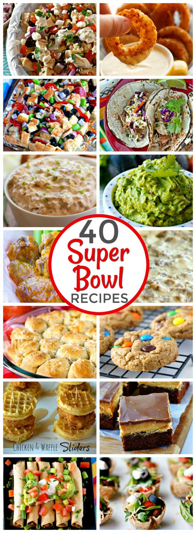 When it comes to game day, you can't lose with easy, hearty, comfort food. Your crowd will cheer for these recipes in this Super Bowl food roundup! via @foodfolksandfun