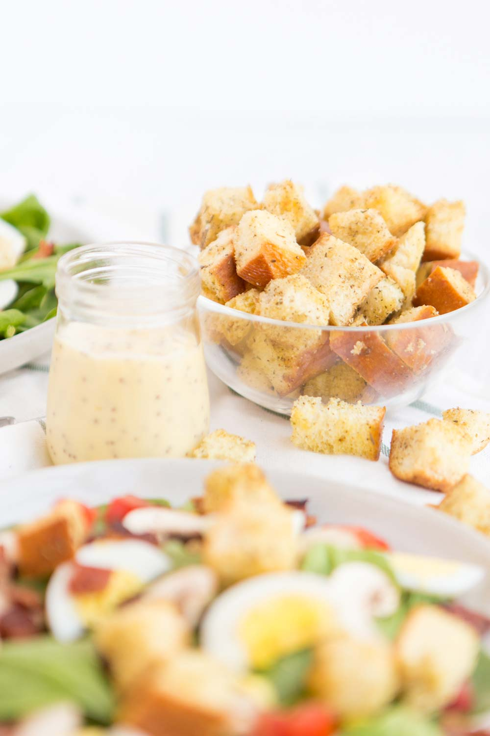 The best homemade croutons for any salad!