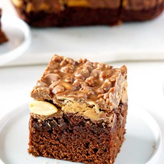 Amazing Peanut Butter Cup Brownies.