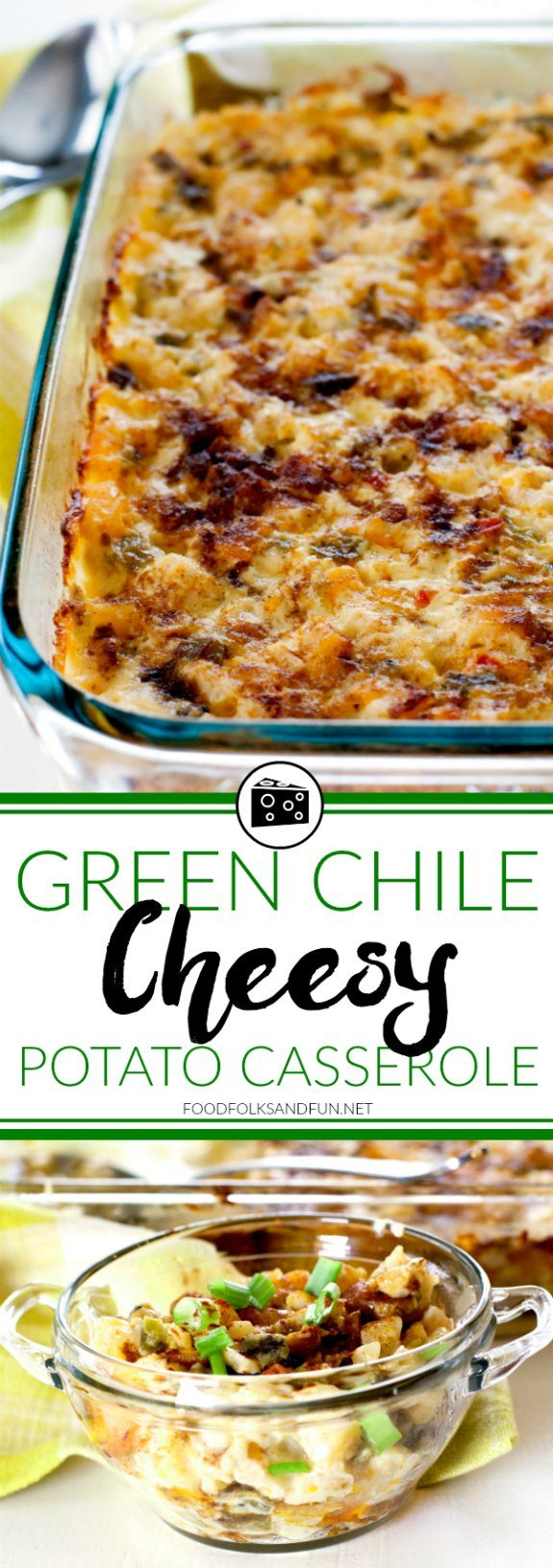 What's better than cheesy potato casserole? Green Chile Cheesy Potato Casserole, of course! This is a simple, delicious, and zesty option to the comfort food classic.