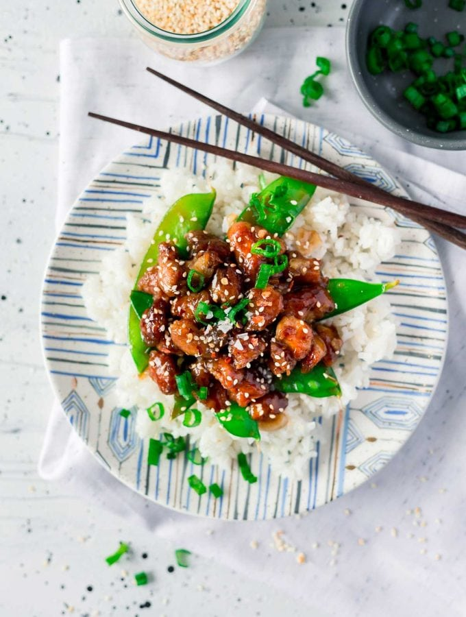 Healthier General Tso's Chicken in just 30 minutes!