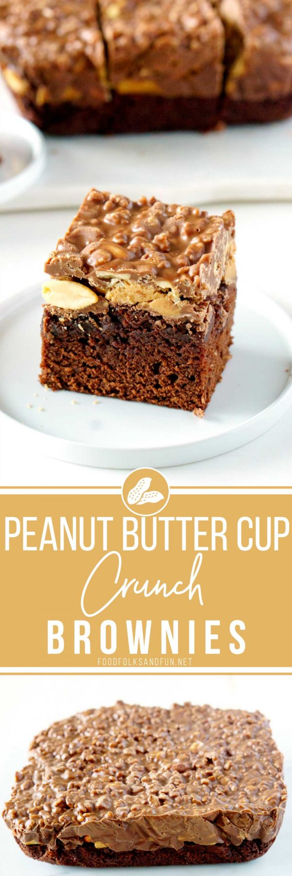 How to Make Peanut Butter Cup Crunch Brownies