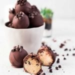 Easy Chocolate Chip Cookie Dough Truffles recipe.