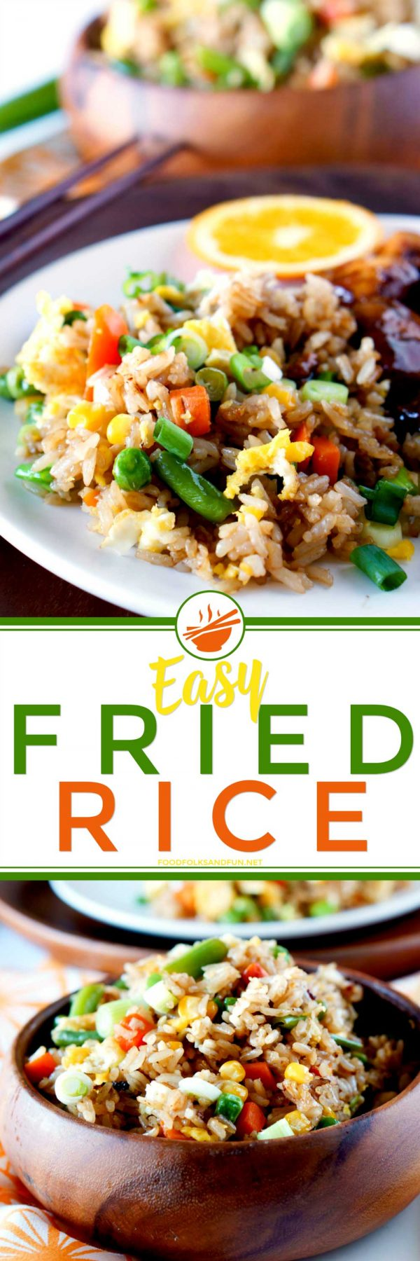 Easy and delicious homemade fried rice recipe.