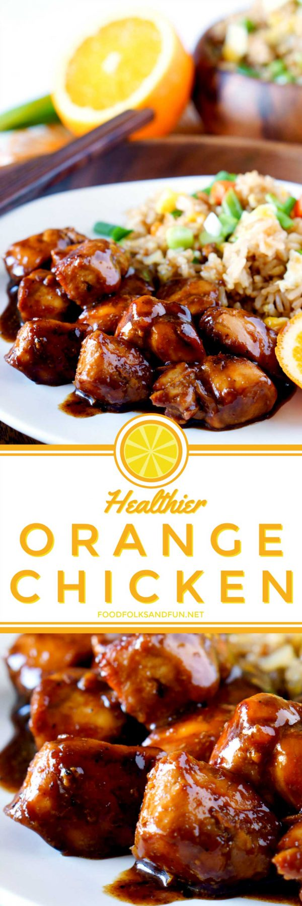 The classic Chinese takeout, Orang Chicken, made healthier!