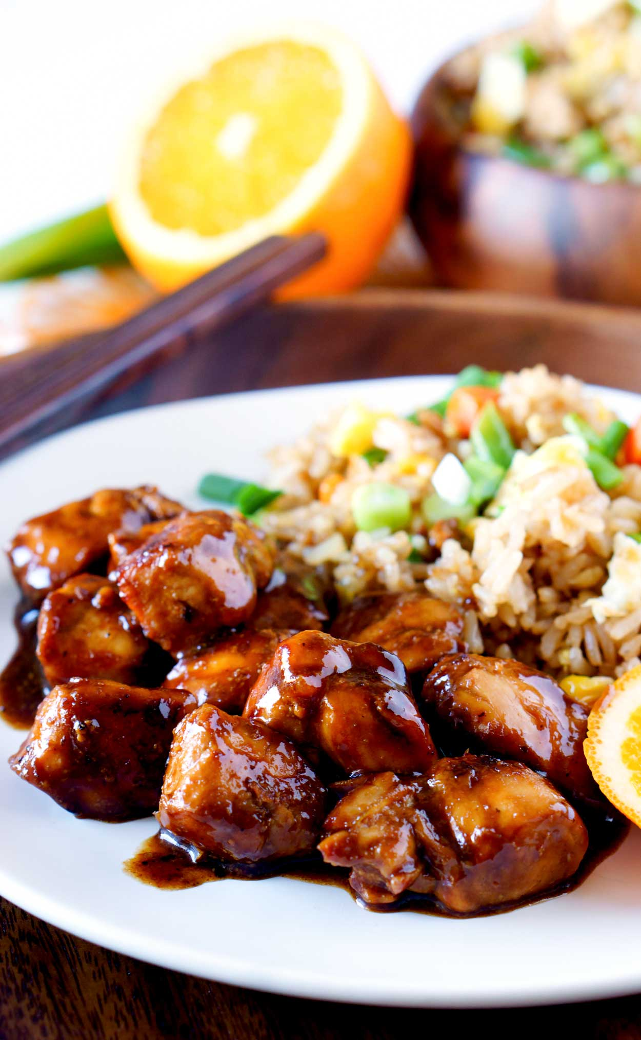 My favorite Orange Chicken recipe for quick and easy dinners.