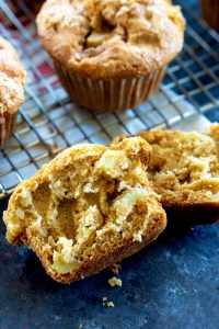 These Apple Muffins make your house smell heavenly while they're baking!