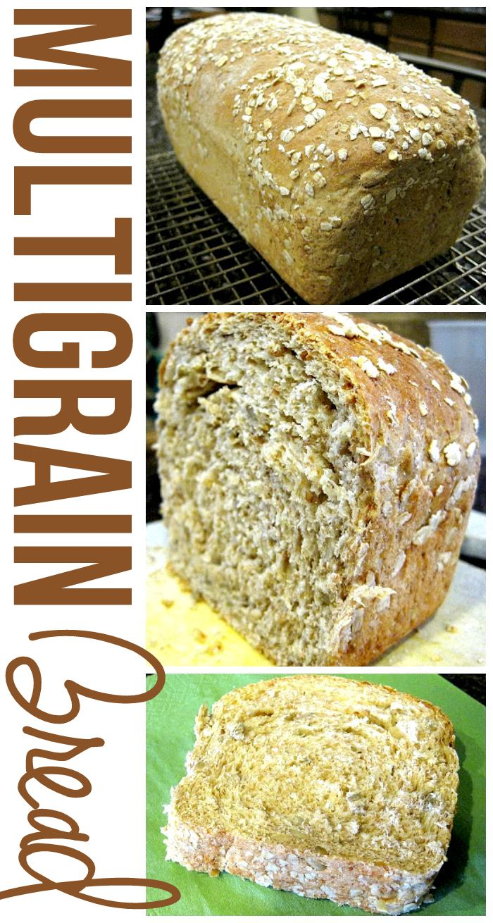 This Multigrain Bread recipe is simply amazing. It's hearty yet soft, and It comes out perfectly every time! This recipe makes two, big loaves. via @foodfolksandfun