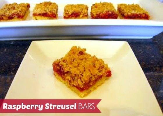 Raspberry Streusel Bars • Food, Folks and Fun