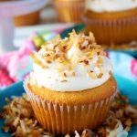 Best Coconut Cupcakes with Coconut Swiss Meringue Buttercream
