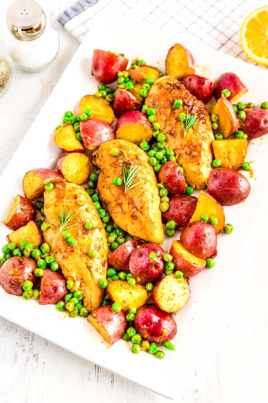 Skillet Chicken Vesuvio recipe