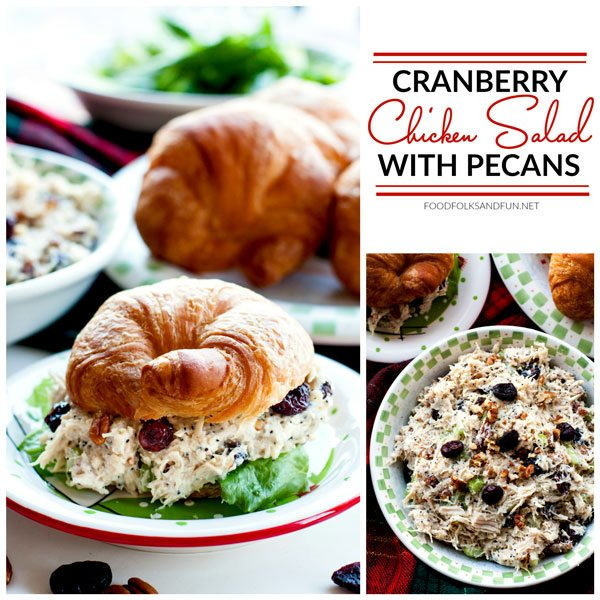 Picture collage of chicken salad for Facebook.