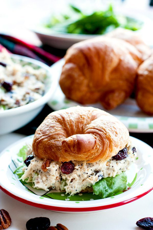 Cranberry Chicken Salad with Pecans
