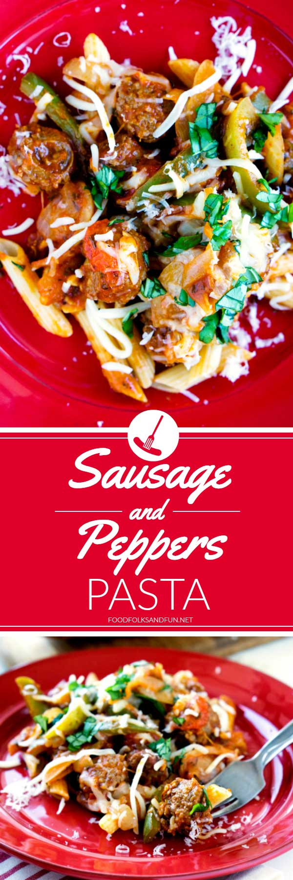 This Sausage and Peppers Pasta recipe is a quick & easy version of the slow-cooked Italian classic. It's vibrant, delicious, and great for busy weeknights! via @foodfolksandfun