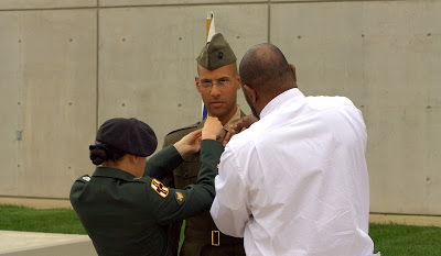 A man graduating from Officer Candidate School