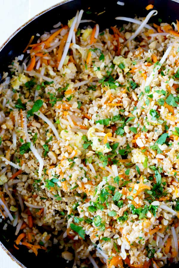 Pad Thai Fried Rice recipe made in 30 minutes or less.
