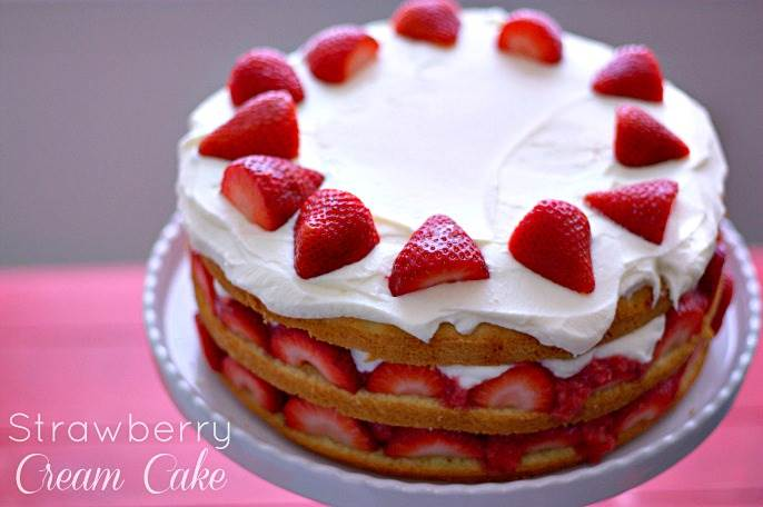 Strawberry Filling Birthday Cake