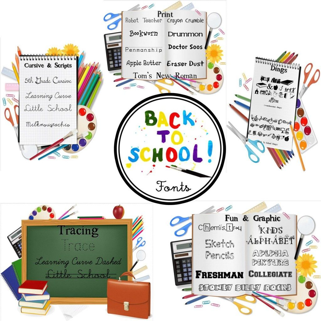 25 Free {totally cute} Back-to-School Fonts!