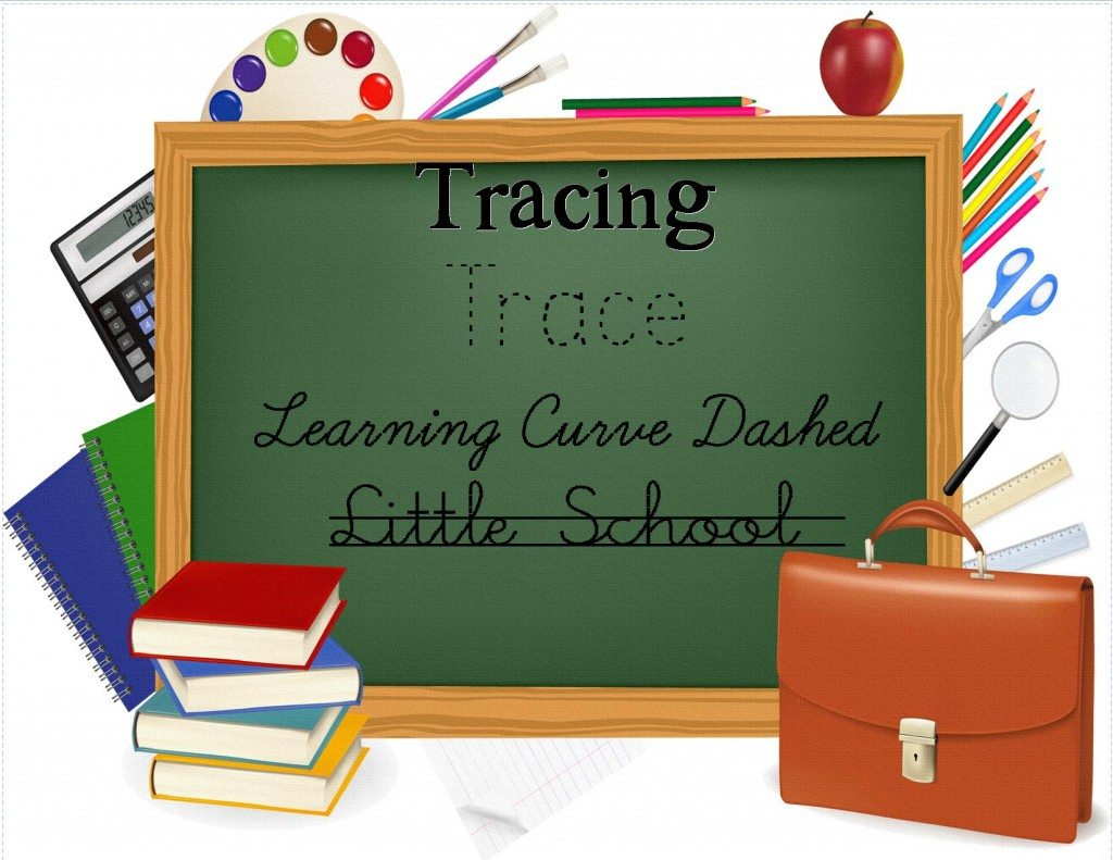 clip art for tracing back to school fonts