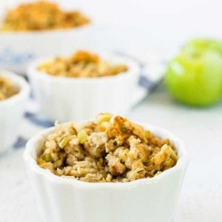 Bacon Apple Stuffing recipe for Thanksgiving