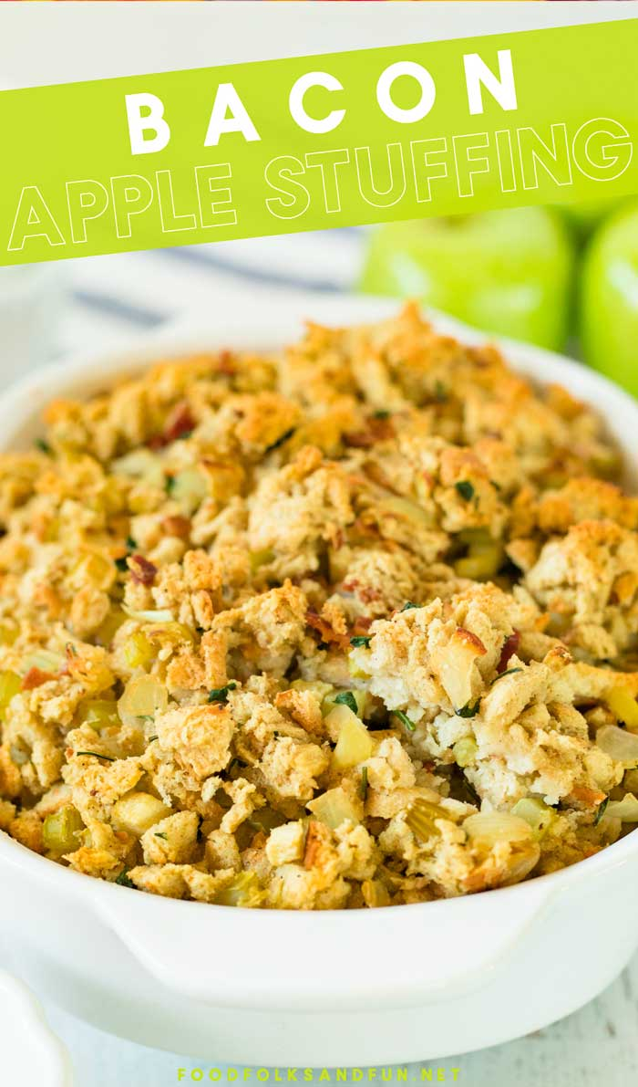 The Best Bacon Apple Stuffing