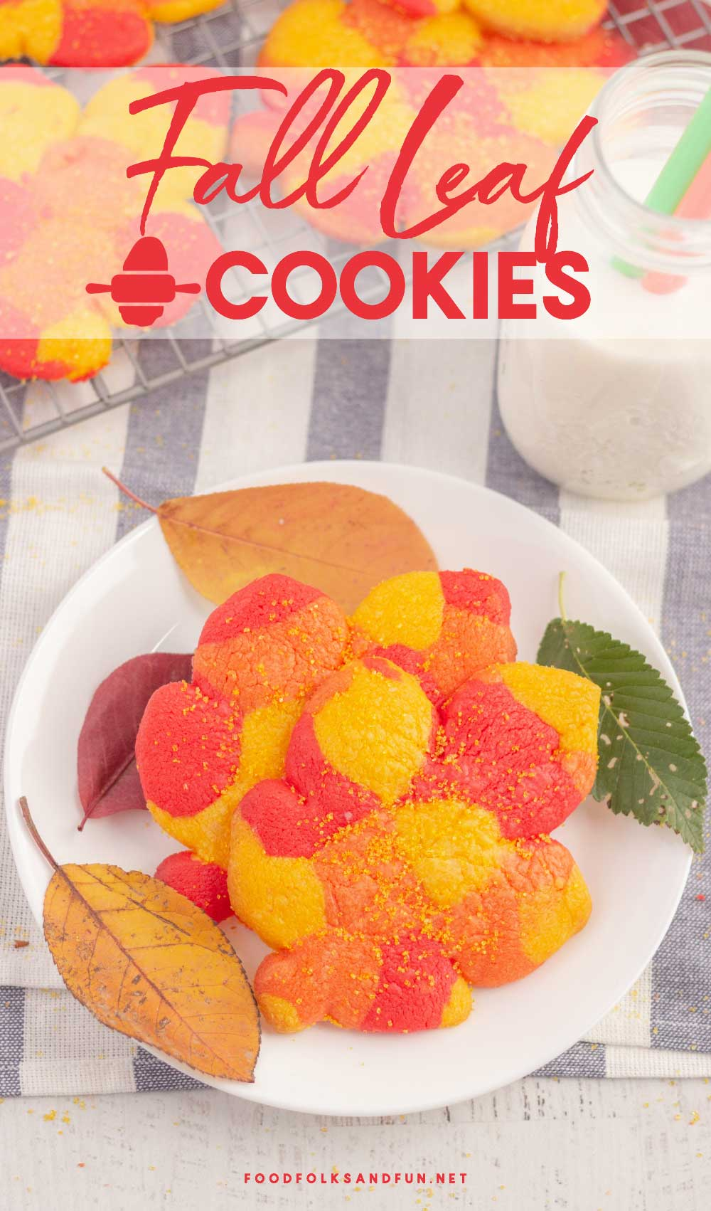 I'm celebrating beautiful fall foliage with these Fall Cookies! Don't be intimidated, they're easier to make than they look!