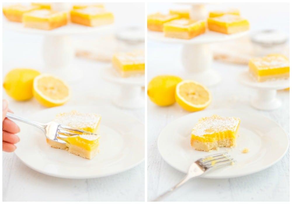 Eating the best Lemon bars!