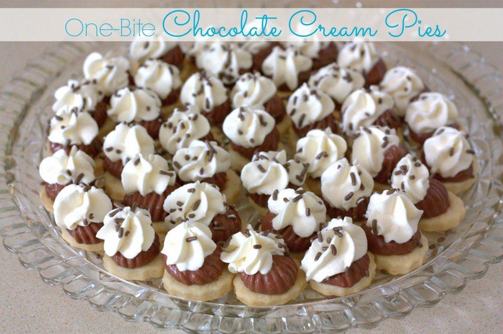 Bite size Chocolate Cream Pies