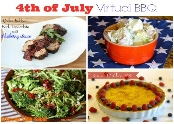 Crème Brûlée Tart & a 4th of July Virtual BBQ