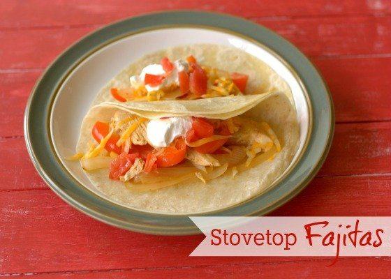 Stovetop Chicken Fajitas