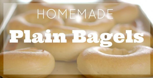Homemade Plain Bagels
