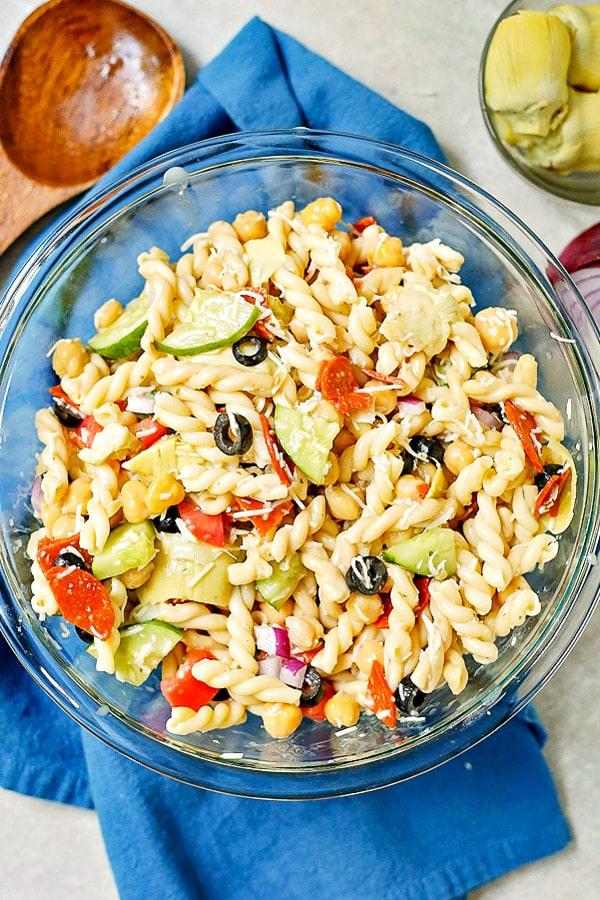 Quick and Easy Italian Pasta Salad recipe.