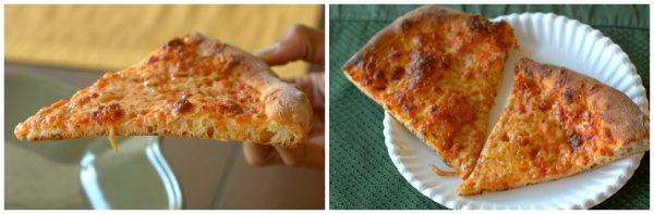 Final process shots of New York Style Thin Crust Pizza