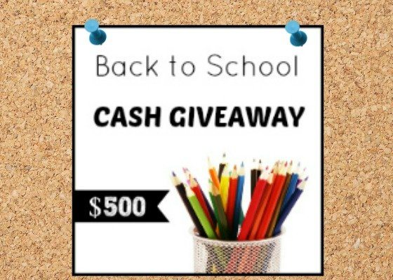 $500 Back-to-School Cash Giveaway!