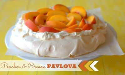 Peaches & Cream Pavlova
