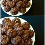 A collage of Triple Chocolate Cookies