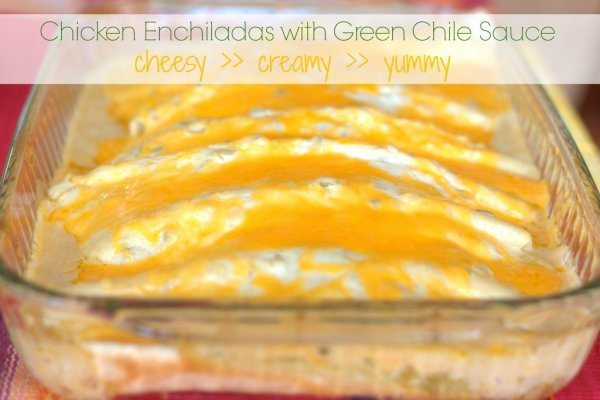 Chicken Enchiladas with Creamy Green Chiles Casserole