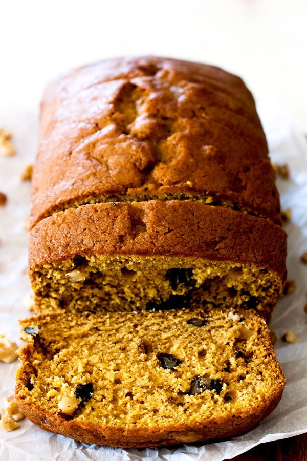 Pumpkin Pie-Spiced Pumpkin Bread