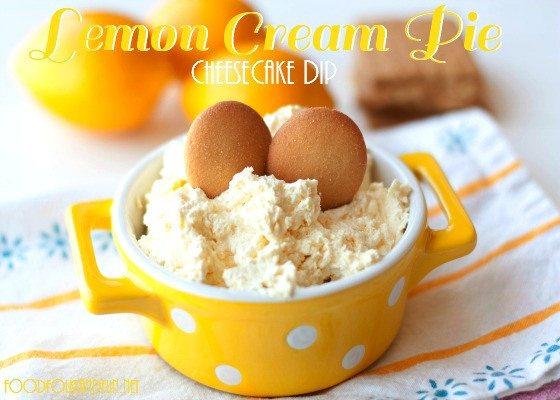 Lemon Cream Pie Cheesecake Dip