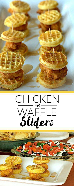 Chicken waffle sliders chicken and waffle sliders recipe forumfinder Gallery