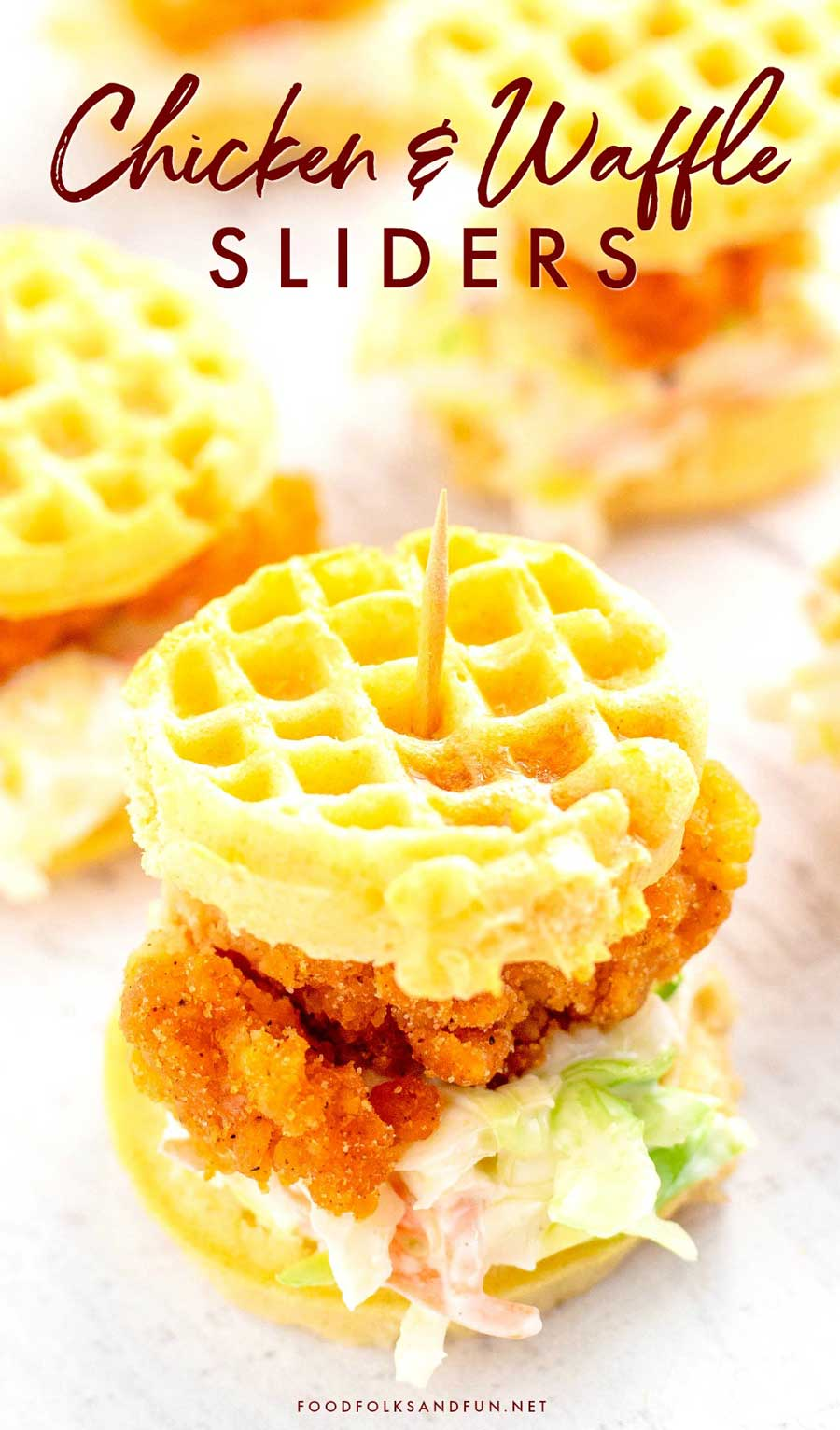 Easy Chicken and Waffle Sliders recipe