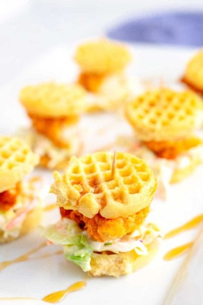 Step 3 - Chicken and Waffle Sliders