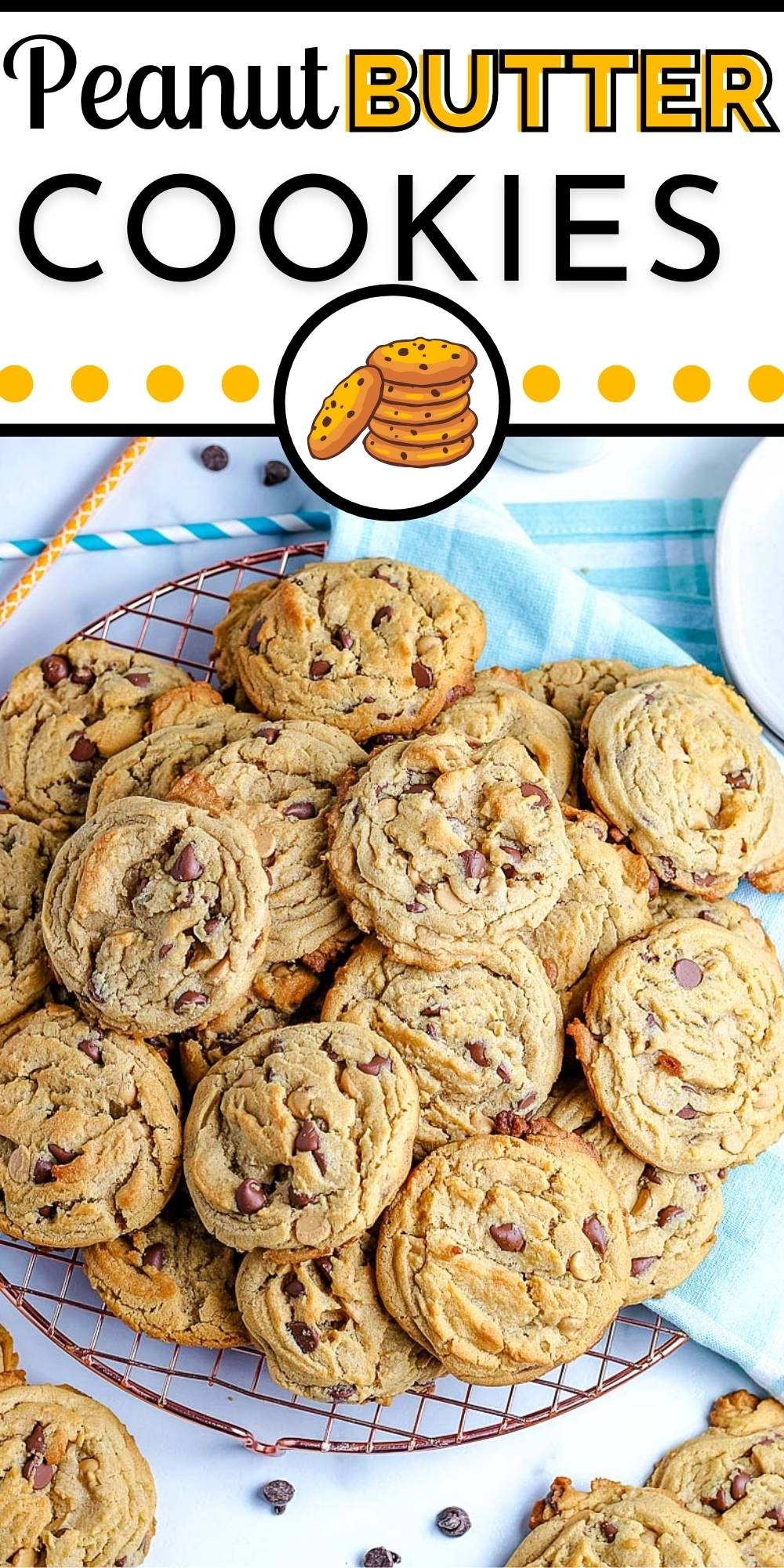 These are the Best Peanut Butter Chocolate Chip Cookies! They're thick, chewy, and loaded with peanut butter flavor and milk chocolate chips!  via @foodfolksandfun