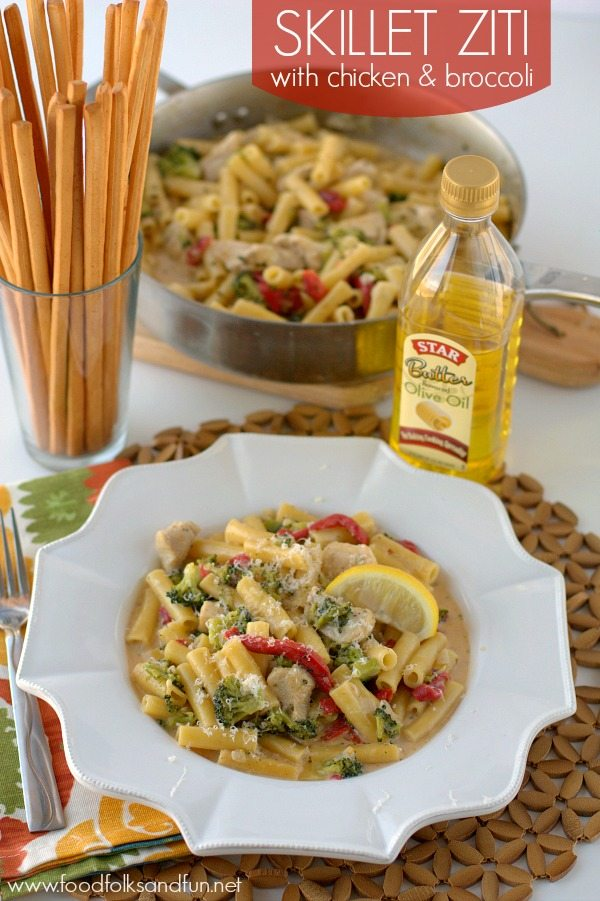 skillet_ziti_with_chicken_broccoli_#collectivebias_#shop